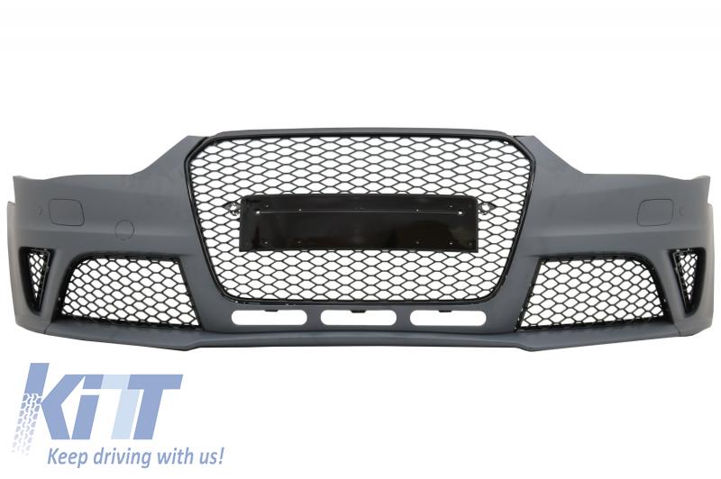 front bumper audi a4 b8 facelift 2012 2015 rs design. Black Bedroom Furniture Sets. Home Design Ideas