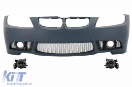Front bumper BMW 3 series  E90 Sedan E91 Touring (04-08) (Non LCI) M3 Design with Fog Lights Smoke - COFBBME90M3P