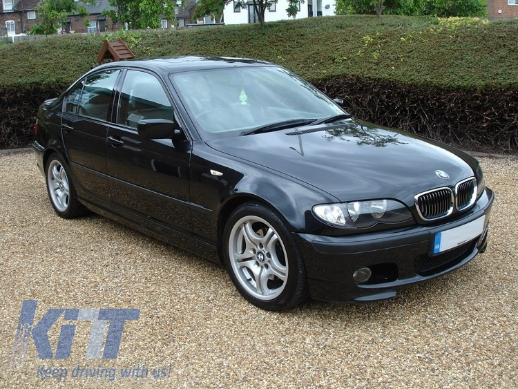 front bumper bmw e46 sedan touring 1998 2004 m technik m tech m sport model without fog lights. Black Bedroom Furniture Sets. Home Design Ideas