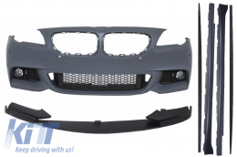 Front Bumper BMW F10 F11 5 Series (2011-up) with Extension Lip and Side Skirts M-Performance Design - COFBBMF10MTPDCSS