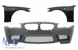 Front Bumper Fenders suitable for BMW 5 Series F10 F11 2011-up M5 PDC SRA Design - COFBBMF10M5BM