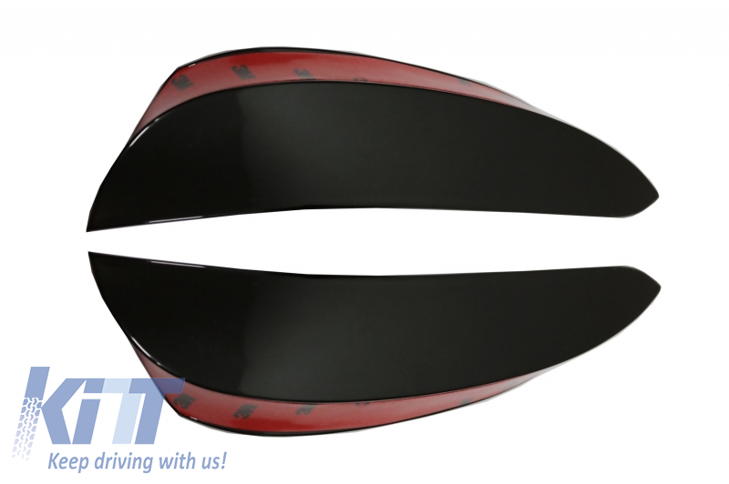 KITT FFOB Front Bumper Flaps Side Fins Design Black Edition
