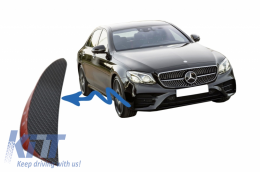 Front Bumper Flaps Side Fins Flics suitable for Mercedes W213 S213 C238 A238 E43 E53 Design Carbon Film Coating - FFOCF