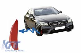 Front Bumper Flaps Side Fins Flics suitable for Mercedes E-Class W213 S213 C238 A238 E43 E53 Design Red - FFOR