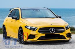 Front Bumper Flaps Side Fins Suitable for Mercedes A-Class W177 A180/A200/A250 (2018-Up) LHD - FBFOBW177