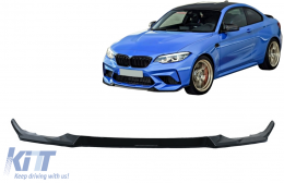Front Bumper Lip Spoiler suitable for BMW 2 Series F87 M2 (2016-2020) Piano Black - FBSBMF87
