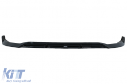 Front Bumper Lip suitable for Mercedes C-Class W205 Sedan S205 T-Modell A205 Cabriolet C205 Coupe (2014-2019) Sport Line Piano Black - FBSMBW205B