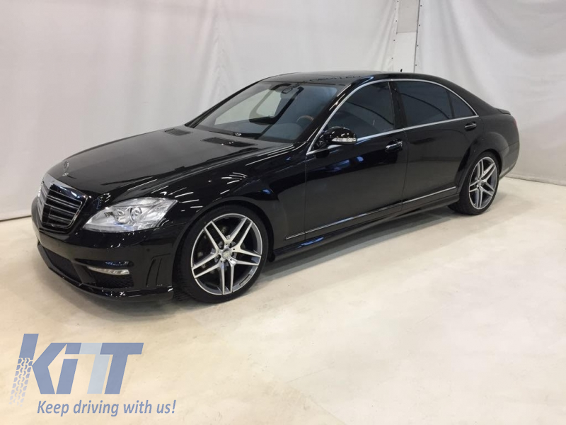 front bumper mercedes benz w221 s class 2005 2012 s63 s65 amg look. Black Bedroom Furniture Sets. Home Design Ideas