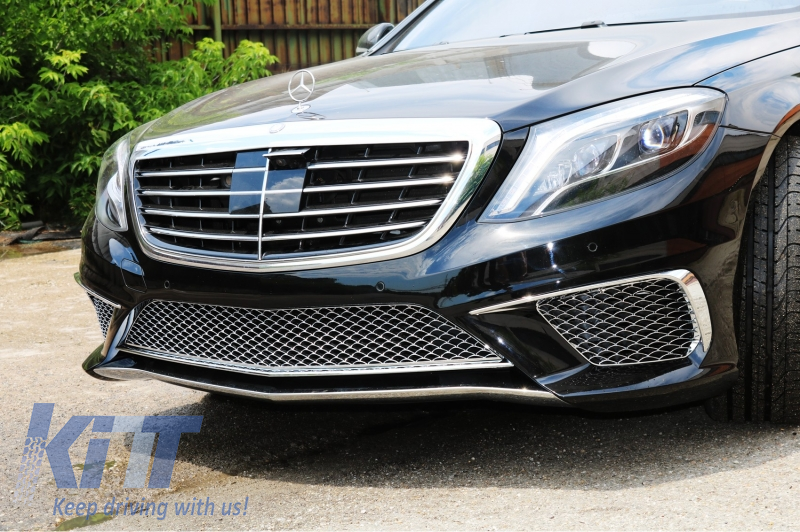Front bumper mercedes benz w222 s class 2013 up s65 amg for Mercedes benz s550 parts and accessories