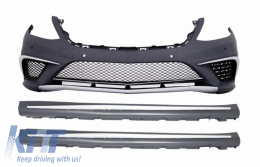 Front Bumper Mercedes Benz W222 S-Class (2013-up) S63 AMG Design with Side Skirts - COFBMBW222AMGS63SS