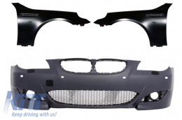 Front Bumper PDC 24mm with Front Fenders BMW 5 Series E60 E61 Sedan Touring (2003-2007) M5 Design