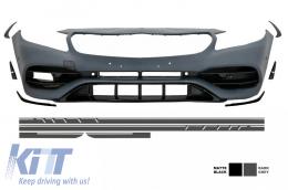 Front Bumper Side Decals Sticker Dark Grey Mercedes A-Class W176 12-18 A45 AMG Design