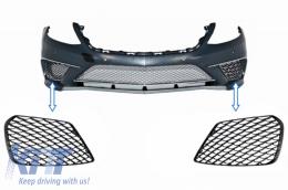 Front Bumper Side Grilles Mercedes Benz S-Class W222 AMG S63 Design Piano Black - SGMBW222S65PB