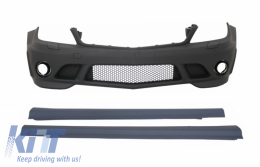 Front Bumper Side Skirts suitable for MERCEDES C-Class W204 (2007-2012) C63 A-Design Without Fog Ligts - COFBMBW204AMGWFSS