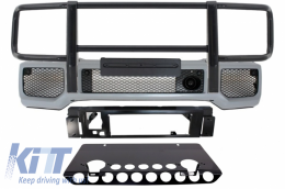 Front Bumper Skid Plate Off Road Shiny Black BullBar suitable for MERCEDES Benz G-class W463 1989-2017 A-Design - COFBMBW463AMGSPB