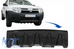 Front Bumper Skid Plate Protection suitable for DACIA Duster 4x4 / 4x2 (2010-2017) Piano Black - SPFBDDPB