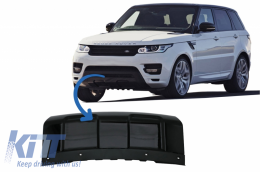 Front Bumper Skid Plate suitable for Land Rover RANGE ROVER SPORT L494 (2013-2017) Piano Black - LBR14013