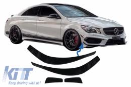 Front Bumper Splitters Fins Aero Mercedes Benz CLA W117 C117 X117 (2013-2016) CLA45 AMG Design - FBSPMBW117AMG