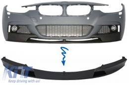 Front Bumper Spoiler BMW 3 Series F30/F31 (2011-) Sedan/Touring M-Performance Design Brilliant Black Edition - FBSBMF30MPB