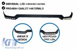 Front Bumper Spoiler LED DRL Extension suitable for MERCEDES G-Class W463 (1989-2017) B-Design - FBSMBW463B