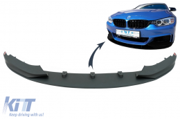 Front Bumper Spoiler Lip BMW 4 Series F32 F33 F36 Coupe Cabrio Grand Coupe M-Performance - FBSBMF32MP