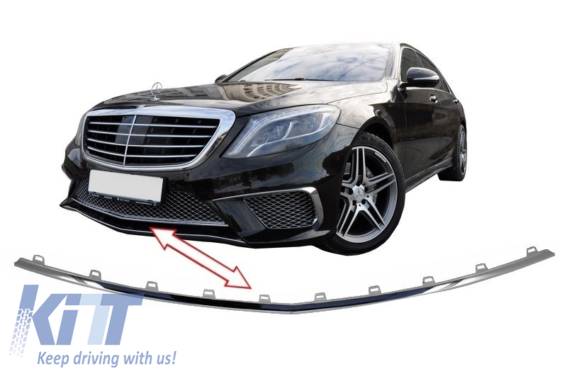 Front bumper spoiler lip mercedes benz w222 s class 2013 for Mercedes benz front bumper parts