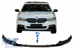 Front Bumper Spoiler Lip suitable for BMW 5 Series G30 G31 Limousine/Touring (2017-up) M Sport H-Design Piano Black