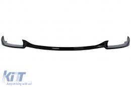 Front Bumper Spoiler Lip suitable for BMW 5 Series E60 E61 M5 Bumper (2003-2010) Piano Black - FBSBME60M5
