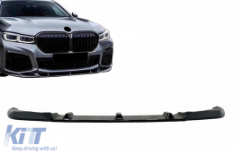 Front Bumper Spoiler Lip suitable for BMW 7 Series G12 LCI (02.2019-up) Piano Black - FBSBMG12M