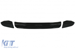 Front Bumper Spoiler Lip suitable for BMW X4 G02 (2018-Up) Piano Black - FBSBMX4M