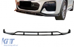 Front Bumper Spoiler Lip suitable for BMW X4 G02 X4M (2018-Up) Piano Black - FBSBMG02MP