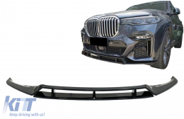 Front Bumper Spoiler Lip suitable for BMW X7 G07 LCI M Sport (2020-Up) Piano Black - FBSBMG07MP