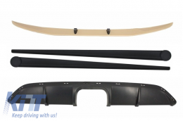 Front Bumper Spoiler Lip with Air Diffuser suitable for SMART ForTwo 451 (2007-2014) and Side Skirts Add-On B Design - COCBSM451