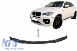 Front Bumper Spoiler Spliter Extension Lip suitable for BMW X6 E71 (2008-2010) Black - FBSLBMX6E71