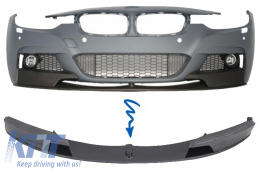 Front Bumper Spoiler Splitter suitable for BMW 3 Series F30/F31 (2011-) M-Performance Carbon Film Coating