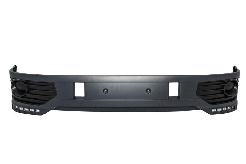 Front Bumper Spoiler suitable for VW Transporter Multivan Caravelle T5 T5 1  Facelift (2010-2015) Sportline Design LED DRL
