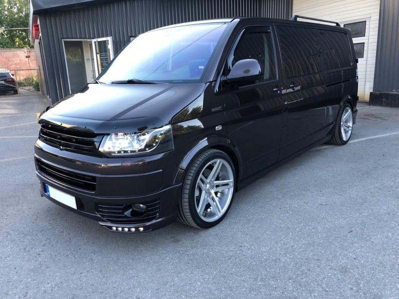 front bumper spoiler suitable for vw transporter multivan caravelle t5 t5 1 facelift 2010 2015. Black Bedroom Furniture Sets. Home Design Ideas
