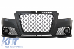 Front Bumper suitable for AUDI A3 8P 8PA Facelift (2009-2012) RS3 Design With Fog Ligts - FBAUA38PF/4009