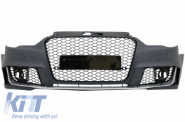Front Bumper suitable for AUDI A3 8V (2012-2015) Hatchback Sportback RS3 Brilliant Black Design - FBAUA38VRH