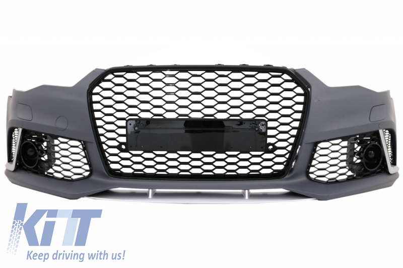 Front Bumper suitable for AUDI A6 C7 4G Facelift (2015-2018) RS6 Design  With Grille