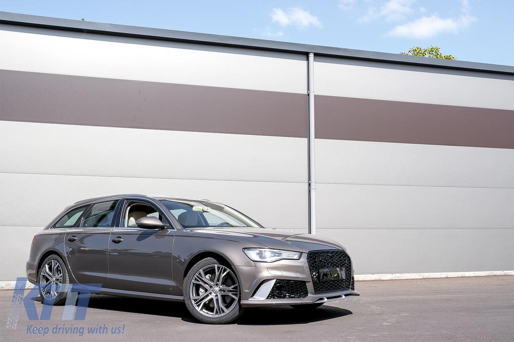 Front Bumper Suitable For Audi A6 C7 4g Facelift 2015 2018 Rs6 Design With Grille Carpartstuning Com