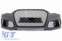 Front Bumper suitable for AUDI A6 C7 4G (2011-2015) RS6 Design W/O Central Grille - FBAUA64GRSWOG