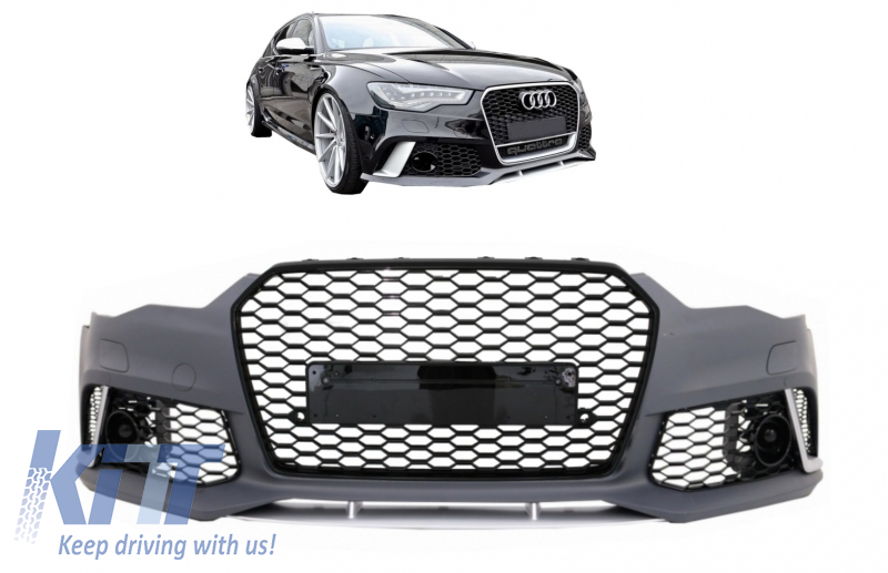 Front Bumper suitable for AUDI A6 C7 4G (2011-2015) RS6 Design With Grille