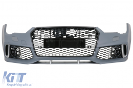 Front Bumper suitable for AUDI A7 4G Facelift (2015-2018) RS7 Design Without Central Grille - FBAUA74GFRSWOG