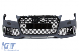 Front Bumper suitable for AUDI A7 4G Pre-Facelift (2010-2014) RS7 Design With Grille - FBAUA74GRSWOG