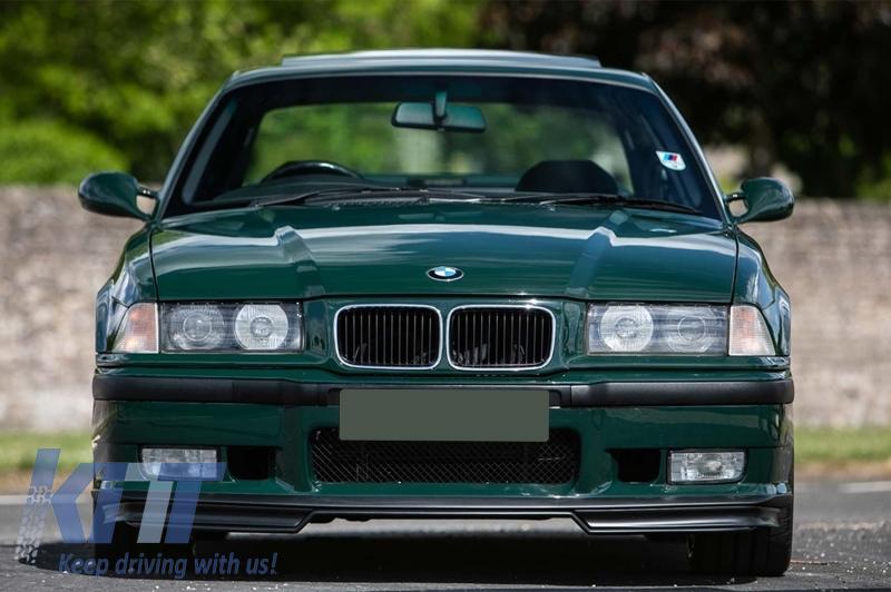 Front Bumper Suitable For Bmw 3 Series E36 1992 1998 With Spoiler Splitters Flaps M3 Design Carpartstuning Com
