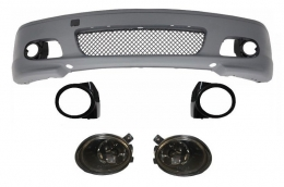 Front Bumper suitable for BMW 3 Series E46 Coupe Cabrio (1999-2007) M-tech M-technik M-Sport II Design With Smoke Fog Lights