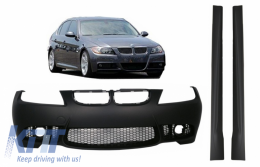 Front bumper suitable for BMW 3 series E90 Sedan E91 Touring (2004-2008) with Side Skirts Non LCI M3 Design without Fog Lamps - COFBBME90M3WFSS