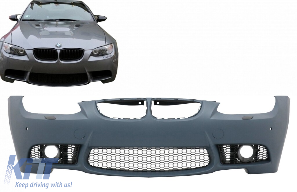 Bumper Grille For 2009-2012 BMW 328i 328i xDrive Center Primed Plastic