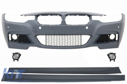 Front Bumper suitable for BMW 3 Series F30 F31 (2011-up) M-Technik With Fog Lights and Side Skirts - COFBBMF30MTSS